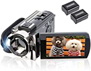 Video Camera Camcorder Digital YouTube Vlogging Camera Recorder kicteck Full HD 1080P 15fps 24MP 3.0 Inch 270