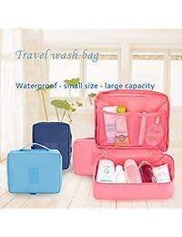 bolsa de cosméticos bolsa de cosmética multifunción bolsa de maquillaje portátil bolsa de viaje impermeable para las mujeres Las niñas, bolsa de cosmética de viajes de múltiples funciones impermeable