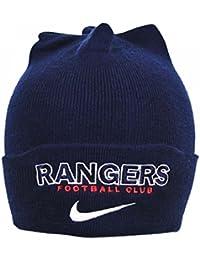 fdb2b9b14fd NIKE Glasgow Rangers FC Official Football Knitted Crest Beanie Hat Navy gift