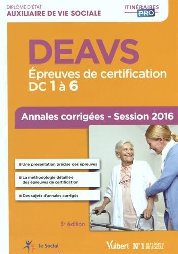 DEAVS - Épreuves de certification DC 1 ...