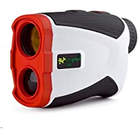EasyGreen 1300 Golf Rangefinder with Slope-Switch Technology (1,300 Yard Range), White
