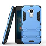 Coque Huawei Honor 5c Coque Etui Case, Ougger(TM) Extreme Protecteur [Absorption Des Chocs] [Béquille] Armor Housse Hard PC + Soft TPU Beau Caoutchouc 2in1 Léger Back Gear Rear pour Huawei Honor 5c (Honor 7 Lite, GT3) Bleu
