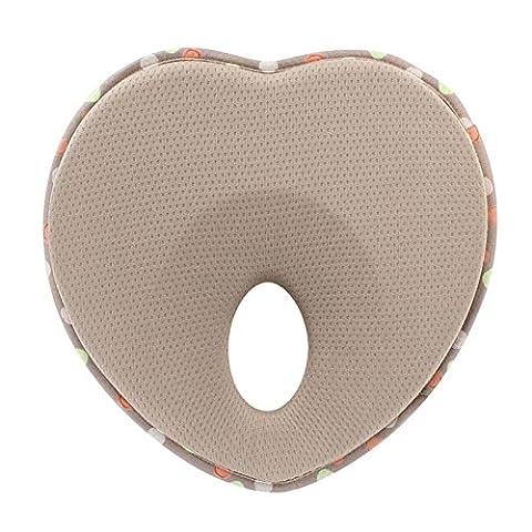 EQLEF® Soft Infant Prevent Flat Head Support Apple Shape Memory Foam Baby Pillow