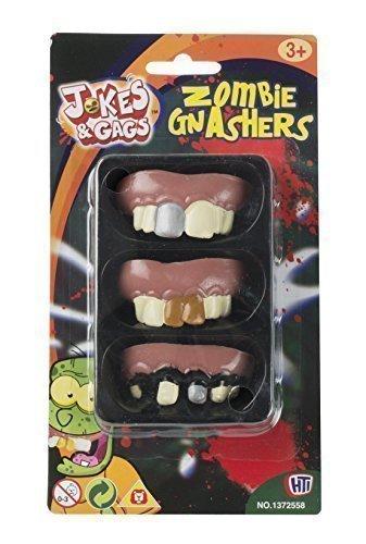 ür Halloween - Set mit 3 Entwürfe (Gefälschte Zähne Halloween)