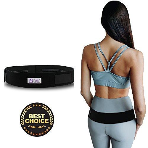 Cinturón de soporte de la articulación del sacroilíaco, para el alivio del dolor pélvico y del hueso sacro - Alivia el dolor de cadera, la baja espalda, la ciática, la lumbar y el malestar - L/XL