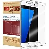 Galaxy S7 Protector de Pantalla, Nakeey Cristal templado Galaxy S7 Protector de pantalla de Ultra HD Claro Protector de Pantalla para Samsung Galaxy S7