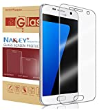 Samsung Galaxy S7 Screen Protector, Nakeey HD-Clear Full Screen Coverage 9H Hardness [Anti-Bubble][Edge to Edge][Scratch Proof] Protective Film Anti-Fingerprint for Samsung Galaxy S7