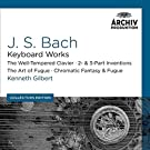 J.S. Bach: Keyboard Works; The Well-Tempered Clavier; 2- & 3- Part Inventions; The Art Of Fugue; Chromatic Fantasy & Fugue