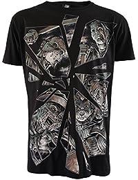 Darkside Clothing Herren T-Shirt Schwarz Schwarz