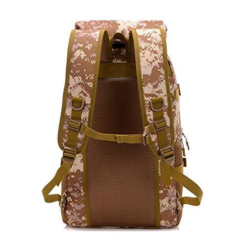 Rucksack 50L Hochleistungs Tactical Rucksack Camouflage Stil wasserdicht täglich Wandern Outdoor Rucksack jungle digital