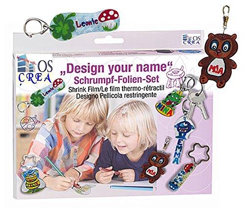 """OSCrea Schrumpffolien-Set """"Design your Name"""", Geschenkpackung"""