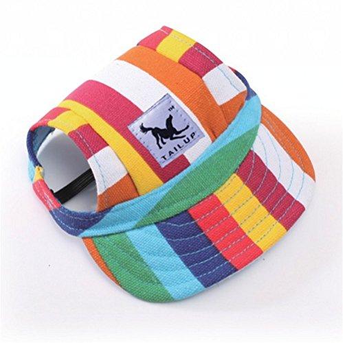 Creatwls Pet Summer Sun Visier Hat verstellbar Baseball Cap Hunde Sport Visier Sun Hat mit Ohrenaussparung Outdoor Walking verstellbar Pet Hat