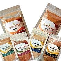 Iyer AATHU Combo_004- Sambar 250gm + Rasam250gm + Dosa Chilly Powder 100gm + Dal Rice Mix 100gm + Coriander Rice Mix 100gm + Sesame Rice Mix 100gm