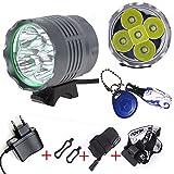 Scheinwerfer 5X Cree XM-L U2 7000 Lumen Fahrradbeleuchtung Stirnlampe Frontlichter Taschenlampe mit...