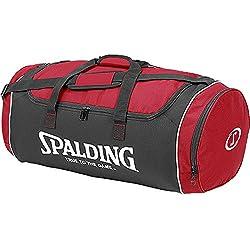 Spalding Sporttasche Tube Sportbag - Bolsa para material de baloncesto ( grande ) , color rojo, talla L