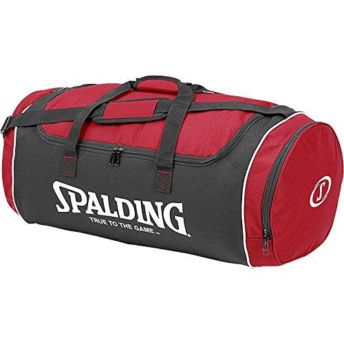 Spalding Sporttasche Tube Sportbag - Bolsa para material de baloncesto (grande), color rojo, talla L