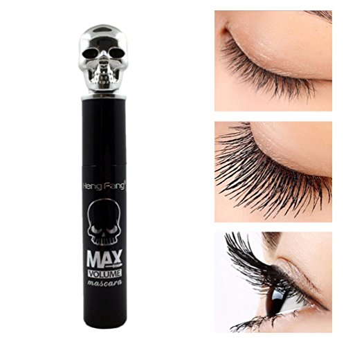 Skull Up Make (Yogogo Mascara Wimperntusche , Thick Black Skull Mascara Stretch Curl Wasserdichte dauerhafte Make-up)
