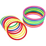 Auidy_6TXD 30 Pieces Plastic Multicolor Toss Rings for Speed and Agility Practice Games, Carnival, Garden, Backyard, Outdoor Games, Toss Ring Game (2 Sizes)