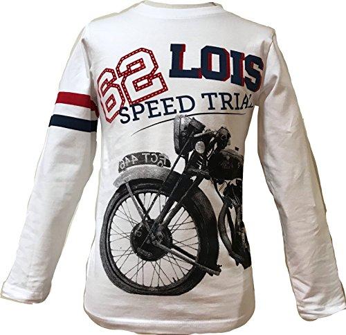Lois 34726. Camiseta m Larga Chico Bici Blanco Talla 8 Años