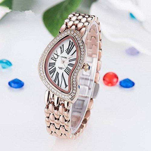 XXFFH Reloj Casual Digital Mecánica Solar Manera Sólida Acero Reloj , 6059020 Rose Gold