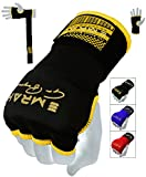 EMRAH Gel Inner Hand Wraps Gel Gloves Boxing Fist Padded Bandages MMA Gel Thai (Black, Large)