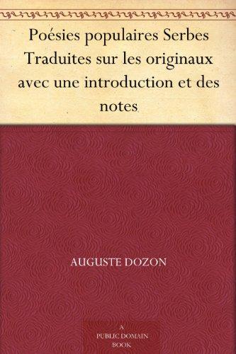 Couverture du livre Poésies populaires Serbes Traduites sur les originaux avec une introduction et des notes
