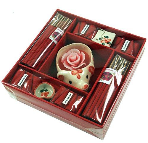 Guru-Shop Räucher & Duftset XL Strawberry, 2x15x15 cm, Räucherstäbchen, sets aus Thailand