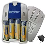 Fujifilm FinePix S2500HD Digital Camera Battery Charger Replacement of 4 AA NiMH 2800mAh Rechargeable Batteries with Charger