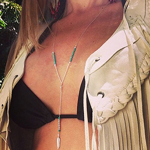 Yean Damen-Halskette Anhänger Lange Halskette mit Blätter (Diy Einfache 2017 Kostüme)