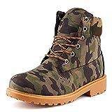 Fusskleidung Herren Outdoor Boots Warm Gefüttert Stiefel Stiefeletten Worker Camouflage EU 39