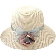 Youkara Sombrero de paja de verano para niñas d4b2afa7e8a