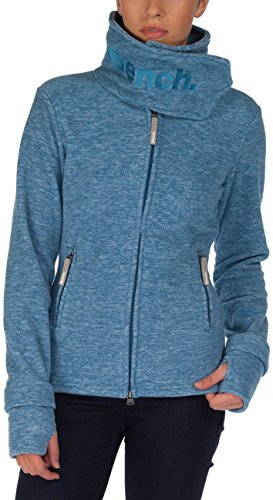 Bench Damen Sweatshirt Fleecejacke Funnel Neck H blau (Dark Blue Marl) Large