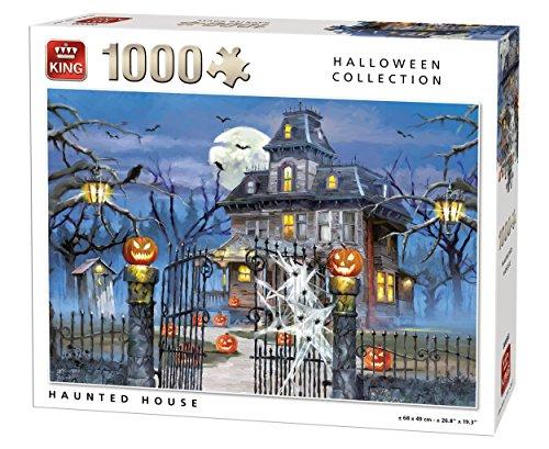 King 5723Halloween Haunted House 1000Stück Puzzle, weiß