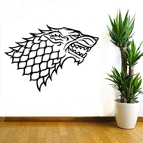 guijiumai Nuovo Design Wolf King Wall Sticker Geometry Animal Series Decalcomanie 3D Wolf Head Vinyl Wall Art Custom Fai da Te Home Decor Stickers Rosa 85x117 cm