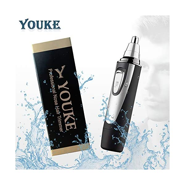 Professional Nose Ear Hair Trimmer For Men Women Electric Nostril Nasal Hair Clippers Trimmers Remover With Vacuum Cleaning System Mute Motor WetDry AA Battery Not Included