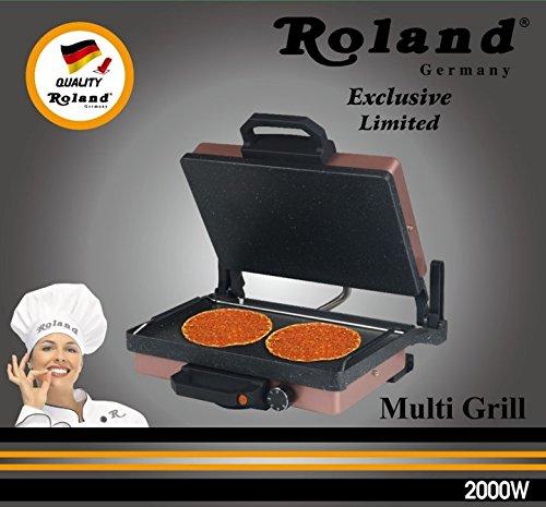 Roland Mutligrill Exklusive Rosé Granit Edition - Elektrogrill Kontaktgrill Tischgrill 2018