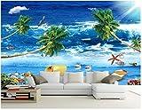 HONGYAUNZHANG Mediterrane Stil Pflanze Benutzerdefinierte Fototapete 3D Stereoskopische Wand Wohnzimmer Schlafzimmer Sofa Hintergrund Wand Wandbilder,290Cm (H) X 370Cm (W)