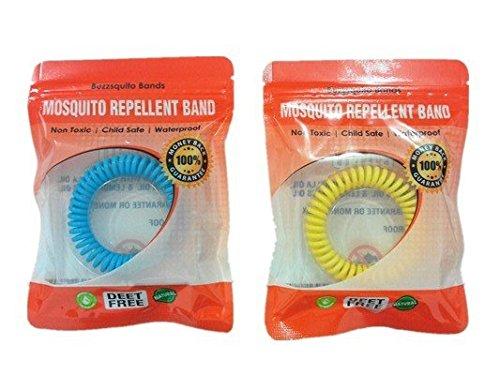 Bracelets anti-moustiques repousser les moustiques et insectes - 10 bandes dans une boîte - Sans DEET - Présenté dans un sachet zip refermable étanche pour utilisation plus longtemps - Bandes - Le travail qui les
