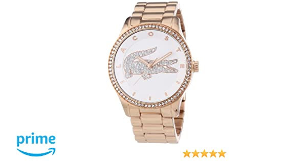 667bdf6dc216 2000828 Lacoste Women s Watch Analogue Quartz Silver Dial Rose Gold  Bracelet (Steel)  Amazon.co.uk  Watches