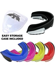Professional Senshi Gum Shield Mouth Guard - Supreme Quality Mouth Guard Shield For Boxing, MMA, Kick Boxing, Thai Boxing, Rugby & All Contact Sports - Comes With 100% Sterile Mouth Protection Guard Carry Case - The Ultimate Mouth Protector With Easy Breath Tech