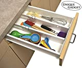#7: Unique Gadget Set Of 2 Snap Fit Drawer Dividers Storage Organizer