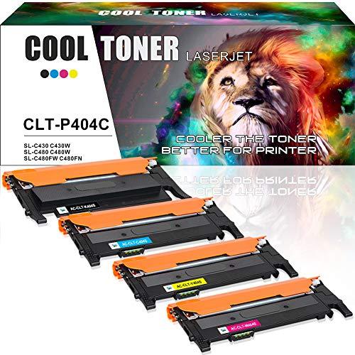 Cool Toner 4 Pack Kompatibel für CLT-P404C P404C CLT-K404S CLT-C404S CLT-M404S CLT-Y404S Toner Kartuschen für Samsung Xpress C480 Samsung C480W Samsung SL C480 C480W SL C480FW SL C480FN C430 C430W -
