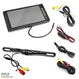 Pyle PLCM9200 9.2 inch TFT/LCD Mirror Monitor with License Plate Mount Rearview Backup Color Camera
