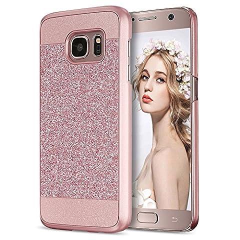 Galaxy S7 Hülle, Imikoko® Luxus Bling Hardcase Strass Glitzer Schutzhülle