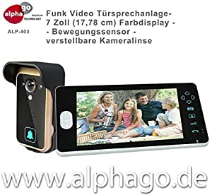 funk video t rsprechanlage alp 403 nachfolge modell alp 400 neu verstellbare kameralinse 7. Black Bedroom Furniture Sets. Home Design Ideas