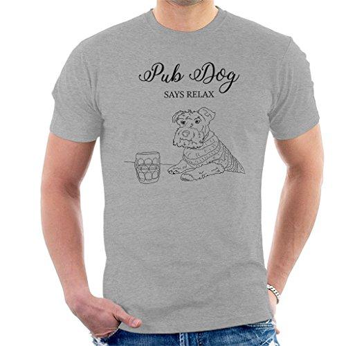 Great British Pub Dogs Pub Dog Says Relax Men's T-Shirt