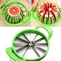 easyshop 21cm in acciaio inox melone anguria melone affettatrice con