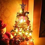 Ceanfly 60cm Weihnachtsbaum Künstlich Tannenbaum Christbaum mit LED Beleuchtung und Weihnachtsschmuck Home Party Festival DIY Dekoration