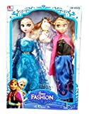#6: HALO NATION Fashion Frozen Doll Elsa and Anna with Olaf