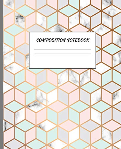 Composition Notebook: White Marble Journal Primary Book - Wide College Ruled Lined Paper | Cute & Elegant Design for School, Students, Teens, Girls , ... x 9.25 ) - 110 Pages - Paperback August 2019